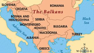 Map of the Balkan Language Regions